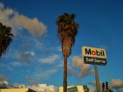 Blockbuster Photos - Mobil Self Serve by Linda De La Rosa