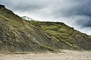 Chesil Beach Prints - Mobile Home Perched on Cliff Print by Jon Boyes