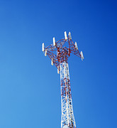 Telecommunications Posters - Mobile Phone Mast Poster by Carlos Dominguez