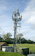 Lattice Framed Prints - Mobile Phone Mast Framed Print by Paul Rapson