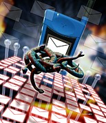 Mobile Telephone Hate Mail Print by Victor Habbick Visions