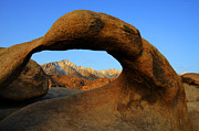 Mount Whitney Posters - Mobius Arch California Poster by Bob Christopher