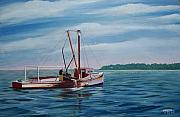 Clammer Paintings - Mobjack Waterman by Hugh Harris
