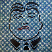 Amusements Painting Originals - Mobster Till with red Lips by Patricia Arroyo