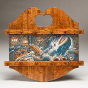 Wood Reliefs Framed Prints - Moby Dick Framed Print by James Neill