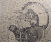 Secret Places Drawings - Moby Dick John Bonham by Robert  Miller