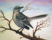 Mockingbird Paintings - Mockingbird by Forrest C Greenslade PhD