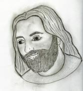 Christ Drawings - Mod Jesus by Sonya Chalmers