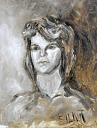 Monotone Paintings - Model - Carolyne by Monica Vanzant