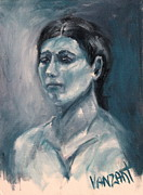Monotone Paintings - Model - Greek by Monica Vanzant