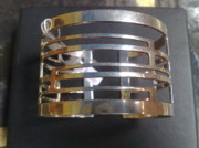 White Topaz Jewelry - Model 1 - SS Plain Cuff with Home Gate Entrance Desings by fmnjewel - Fernando Situmeang