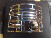 Sterling Silver Chains Jewelry - Model 3 - SS Plain Cuff with Home Gate Entrance Desings by fmnjewel - Fernando Situmeang