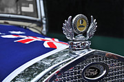 Australian Ford Prints - Model A Ford - Hood Ornament and Badge Print by Kaye Menner