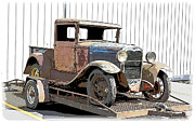 1949 Plymouth Framed Prints - Model A Pickup Project Framed Print by Steve McKinzie