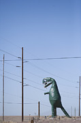 Enjoyment Photos - Model Dinosaur On Interstate 40 by John Burcham