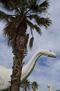 Wildlife Sculpture Acrylic Prints - Model Dinosaurs Acrylic Print by John Burcham
