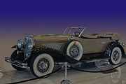 Lyon Framed Prints - Model J LeBaron Phaeton Framed Print by Bill Dutting