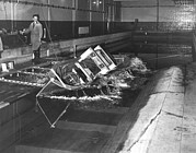 Trawler Metal Prints - Model Ship Testing, 1953 Metal Print by National Physical Laboratory (c) Crown Copyright