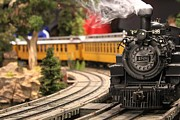 Theresa Willingham Art - Model Train by Theresa Willingham