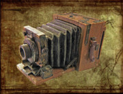 Rangefinder Posters - Model vintage Field camera Poster by Kenneth William Caleno