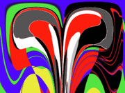 Multi Color Digital Art - Modern Art by Methune Hively