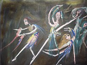 Stage Painting Originals - Modern Ballet by Judith Desrosiers