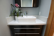 Drawers Prints - Modern Bathroom Interior Print by Marlene Ford