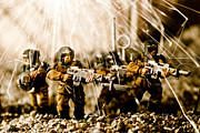 Miniatures Photos - Modern Battle Field by Marc Garrido