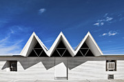 Metaphysics Metal Prints - Modern Building Roofing Metal Print by Eddy Joaquim