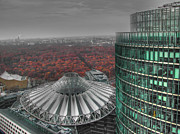 Potsdamer Platz Posters - Modern building with autumn forest Poster by Mats Silvan