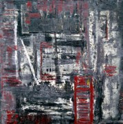 Masculine Painting Originals - Modern City by Holly Anderson