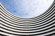 Patterned Photo Posters - Modern Curved Building Poster by Jacobs Stock Photography