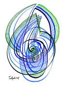 Modern Drawing 120 Print by Lynne Taetzsch