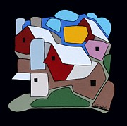 Farm Buildings Prints - Modern Farm Series 3 Print by John Chehak