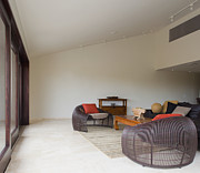 Frame House Photos - Modern Living Room With Wire Chairs by Inti St. Clair
