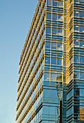 Susan Leggett Metal Prints - Modern Office Building Windows Metal Print by Susan Leggett