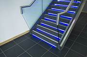 Glass Reflecting Posters - Modern Office Staircase Poster by Iain Sarjeant