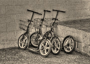 Amish Country Prints - Modern Old Ways in Black and White Print by Greg and Chrystal Mimbs