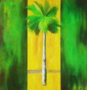 Combine Paintings - Modern Palm Green by Unique Consignment