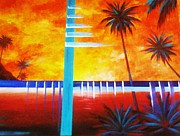 Combine Paintings - Modern Palms by Unique Consignment