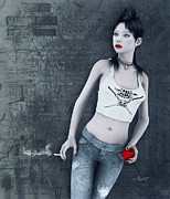 Shirt Digital Art - Modern Snow White by Jutta Maria Pusl