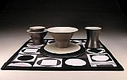 Modern Ceramics - Modern Tableware Set by Karen Kanaby