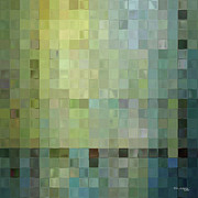 Tile Paintings - Modern Tile Art One Modern Decor Collection by Mark Lawrence
