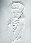 Sculpture Sculptures Reliefs - Modesty in Marble by Gary Stull