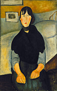 Modigliani Prints - Modigliani: Woman, 1918 Print by Granger