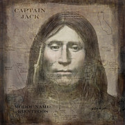 Vintage Map Digital Art Prints - Modoc Indian Captain Jack Print by Cindy Wright