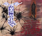 Poem Mixed Media - Modus Operandi of an Angel by Iosua Tai Taeoalii