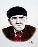 Larry Drawings - Moe Howard of the Three Stooges by Jim Fitzpatrick