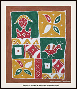 Folk Tapestries - Textiles - Mogale is Mother of the Village respected by all by  Harriet Oloro