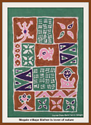 Folk Tapestries - Textiles - Mogale Village Mother is lover of nature by  Harriet Oloro